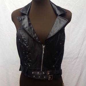 Black halter vest